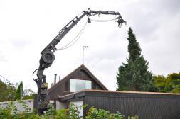 Trädfällning nära bostadshus